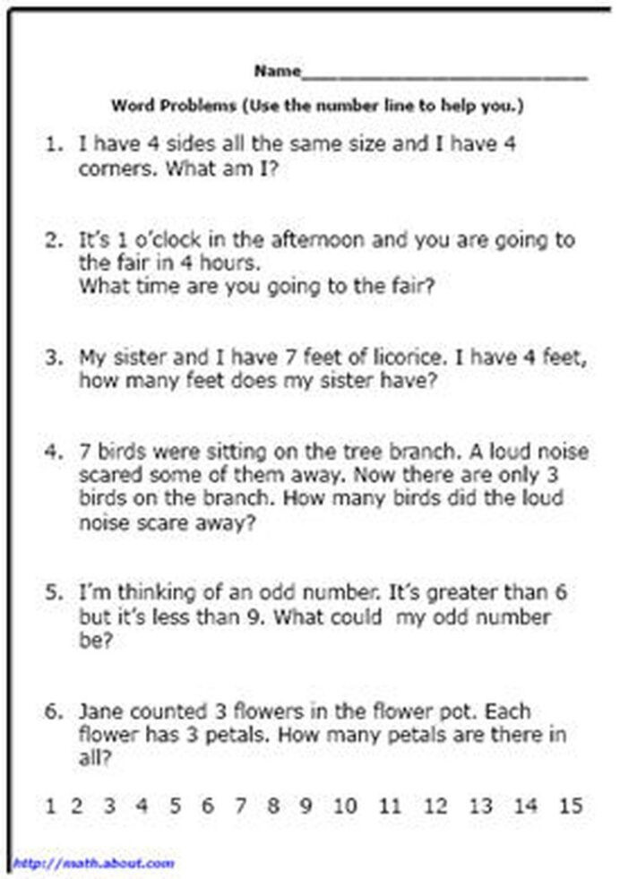Integers Word Problems Worksheet Word Problem Worksheets for First Grade Math Reading