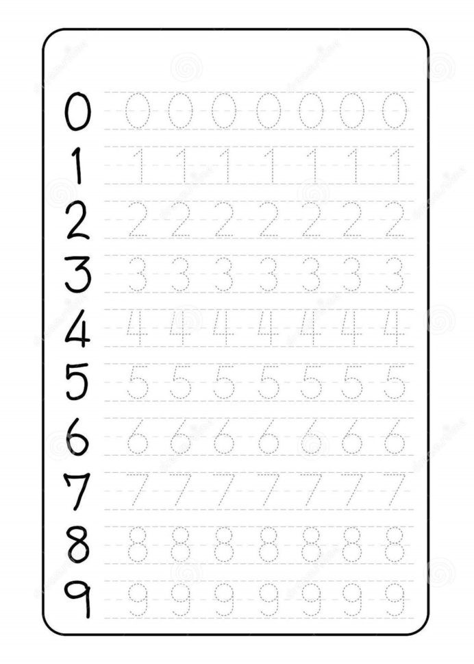 Letter and Number Tracing Worksheets Number Trace Worksheets Tracing for Preschool Grade Word