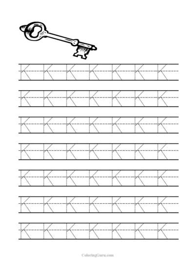 Letter K Tracing Worksheets Preschool Free Printable Tracing Letter K Worksheets for Preschool