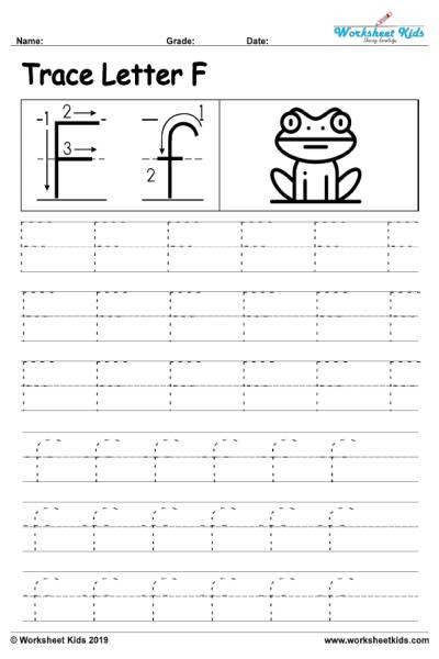 Letter P Tracing Worksheets Letter F Alphabet Tracing Worksheets Free Printable Pdf