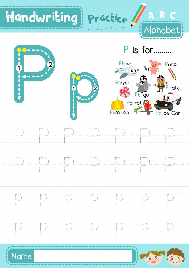 Letter P Tracing Worksheets Letter P Uppercase and Lowercase Tracing Practice Worksheet