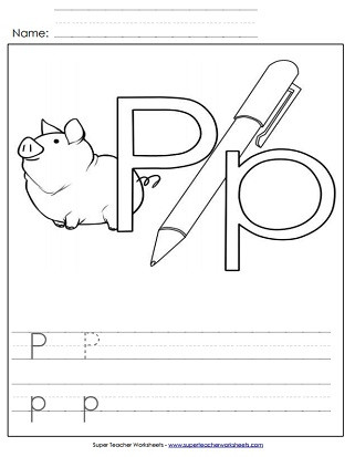 Letter P Tracing Worksheets Letter P Worksheets Recognize Trace & Print