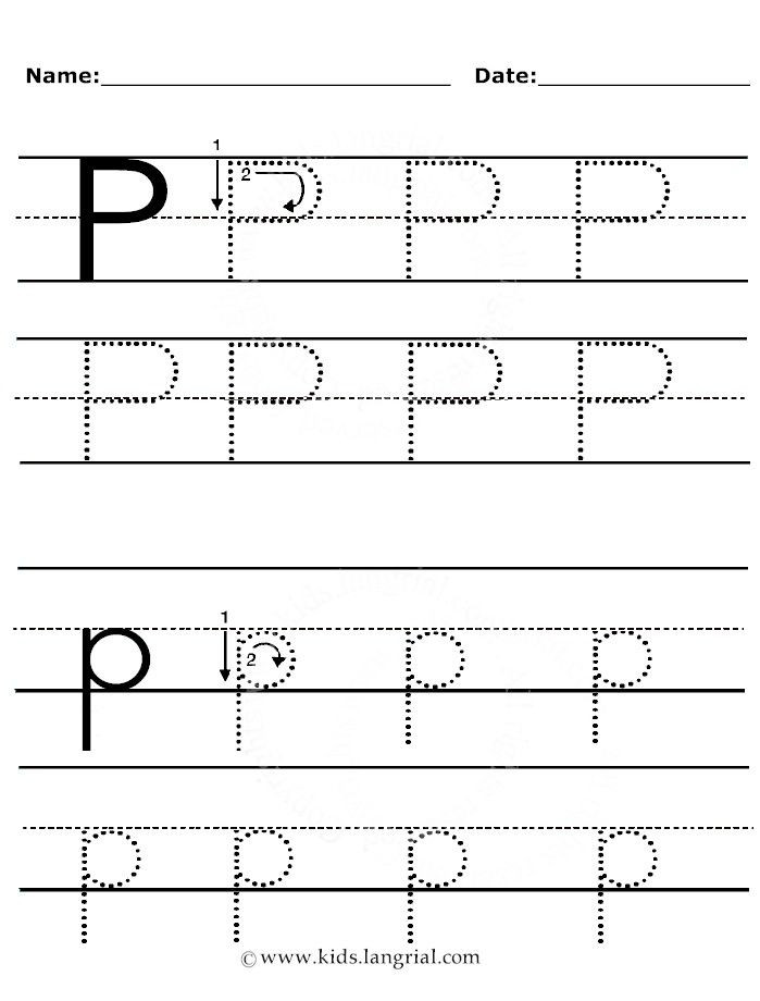 Letter P Tracing Worksheets P00 Handwriting 699—920 Pixels