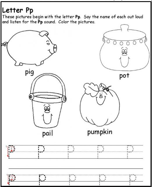Letter P Worksheets for toddlers Free Printable Letter P Worksheets for Kindergarten & Preschool