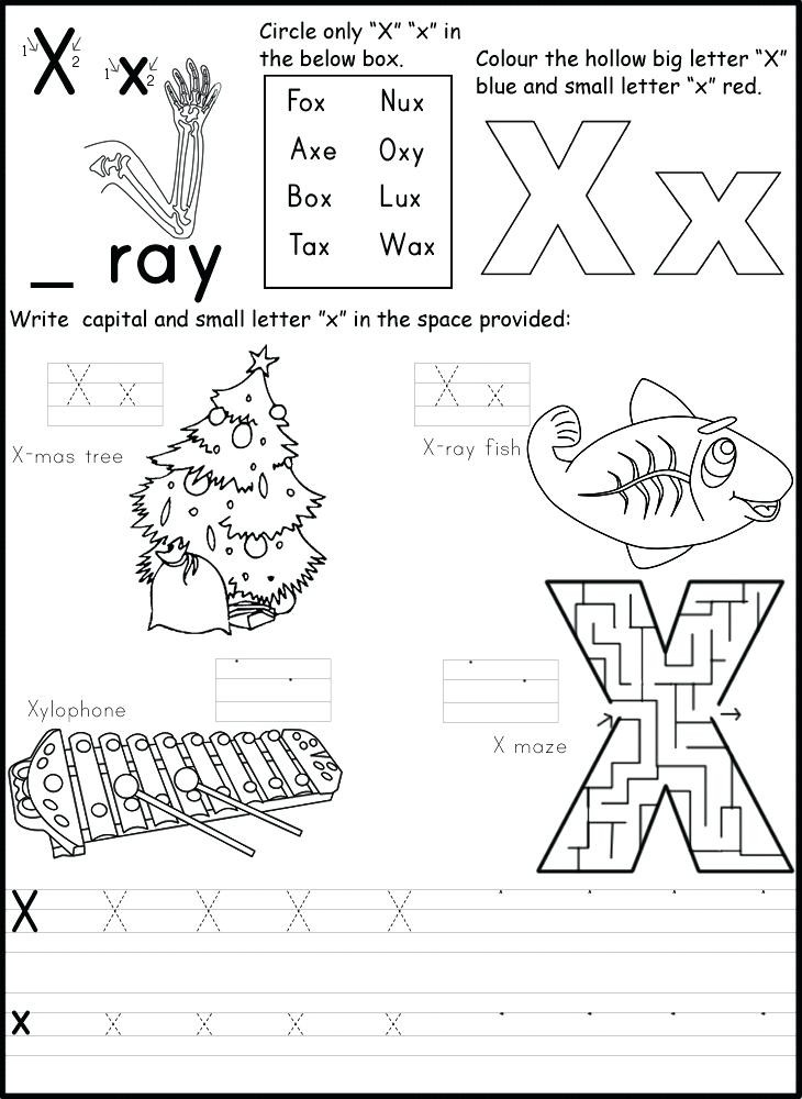 Letter X Worksheets for Preschool 10 Letter X Learning Worksheets for Kids