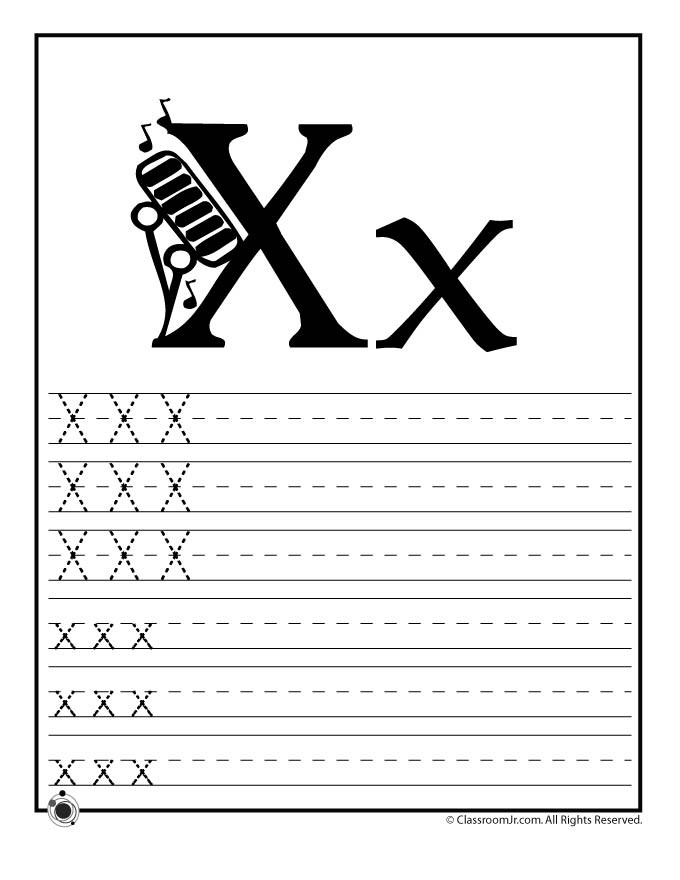 Letter X Worksheets for Preschool Letter X Tracing Practice