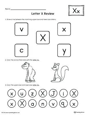 Letter X Worksheets for Preschool Letter X Worksheets for Preschool All About Letter X