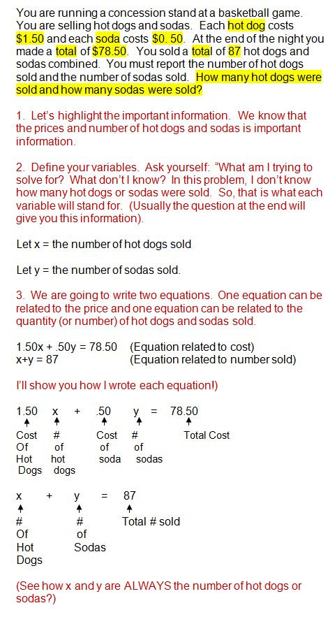 Linear Inequalities Word Problems Worksheet solving Systems Of Equations Word Problems