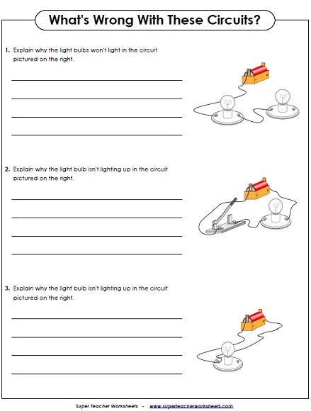 Magnetism Worksheet for High School Science Worksheets Grade Electricity Circuits Whats Wrong