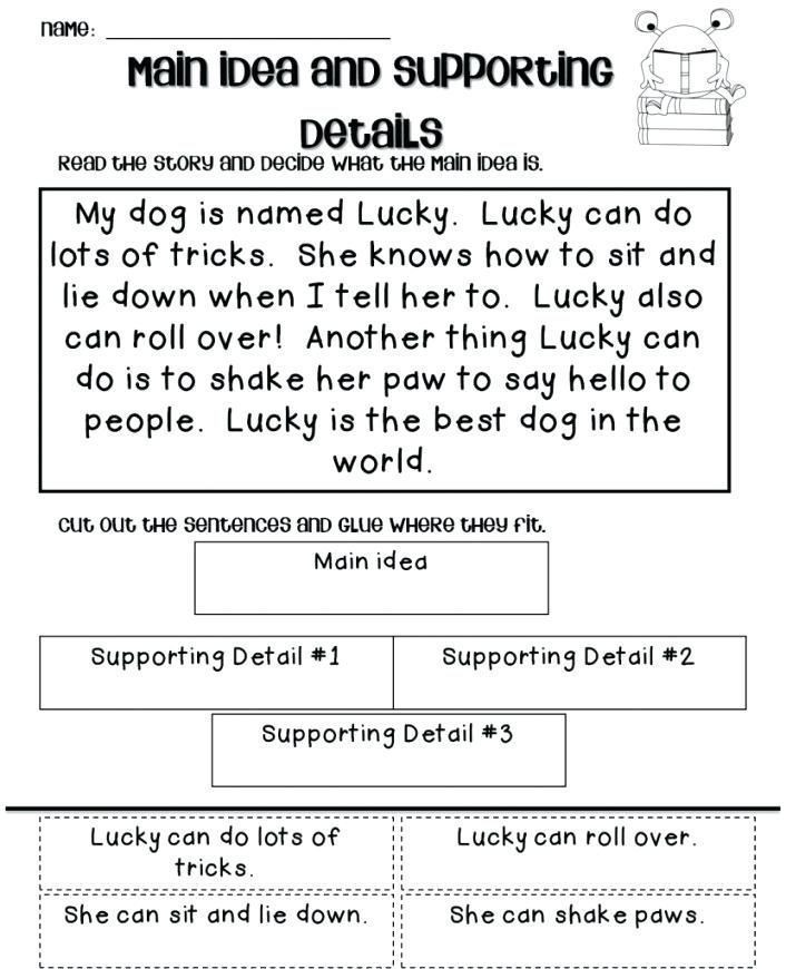 Main Idea Worksheets Middle School 27 Main Idea and Supporting Details Exercises Free Main Idea