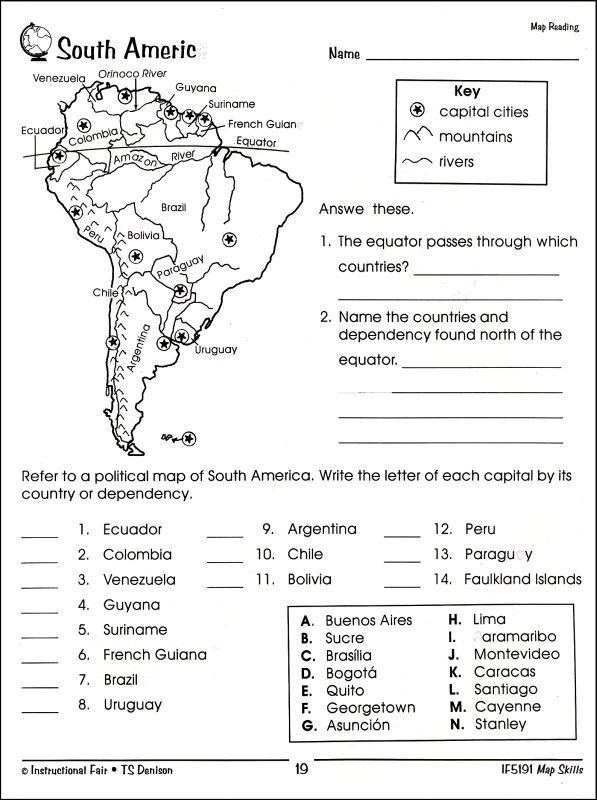 Map Skills Worksheets Middle School Image Result for south America Worksheets for Middle School
