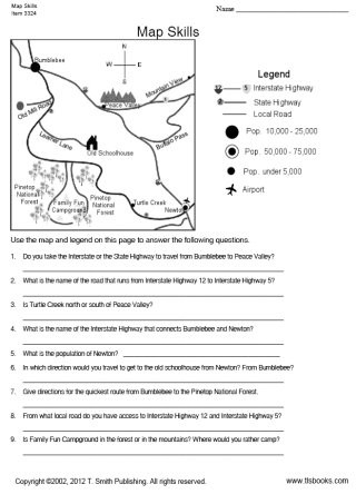 Map Skills Worksheets Middle School Map Skills