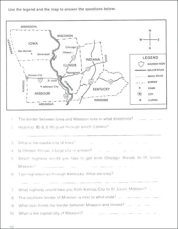 Middle School Map Skills Worksheets Reading Prehension Middle School Free Reading