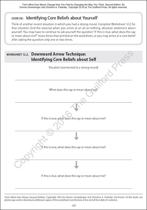 Mind Over Mood Worksheet Mind Over Mood Second Edition Change How You Feel by