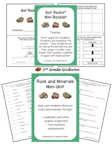 Mohs Hardness Scale Worksheet Rocks and Minerals Mini Unit