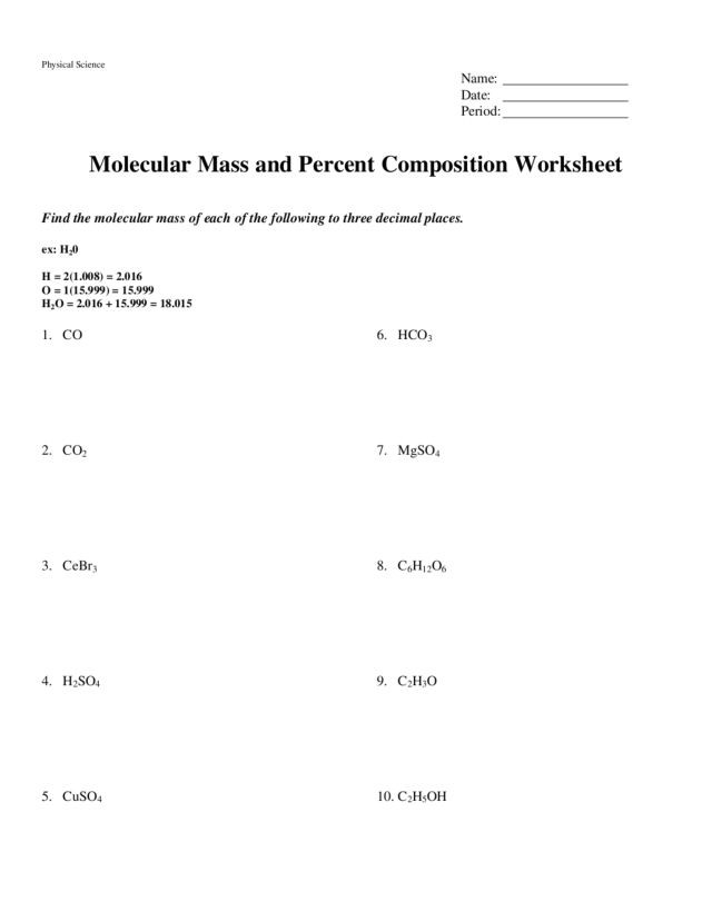 Molar Mass Worksheet Answer Key Questions About Molar Mass Slubne Sukniefo