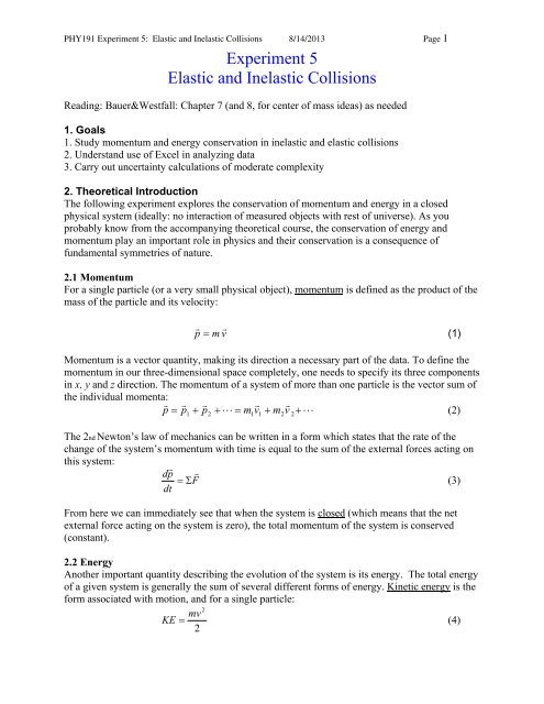 Momentum and Collisions Worksheet Answers What is the Equation for Conservation Energy A Perfectly