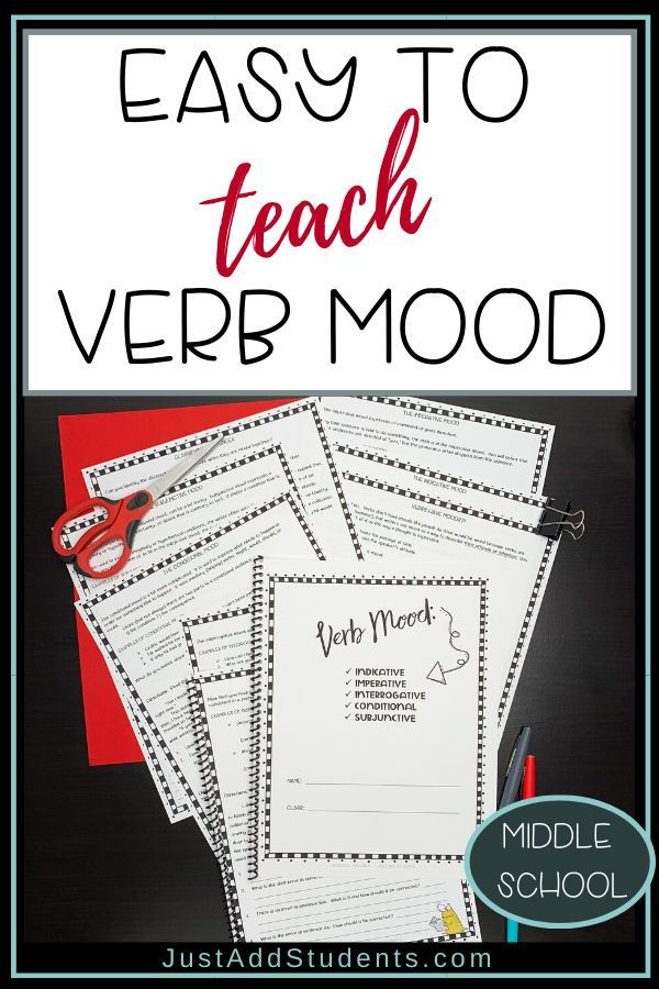 Mood Worksheets for Middle School Verb Moods Practice Worksheets