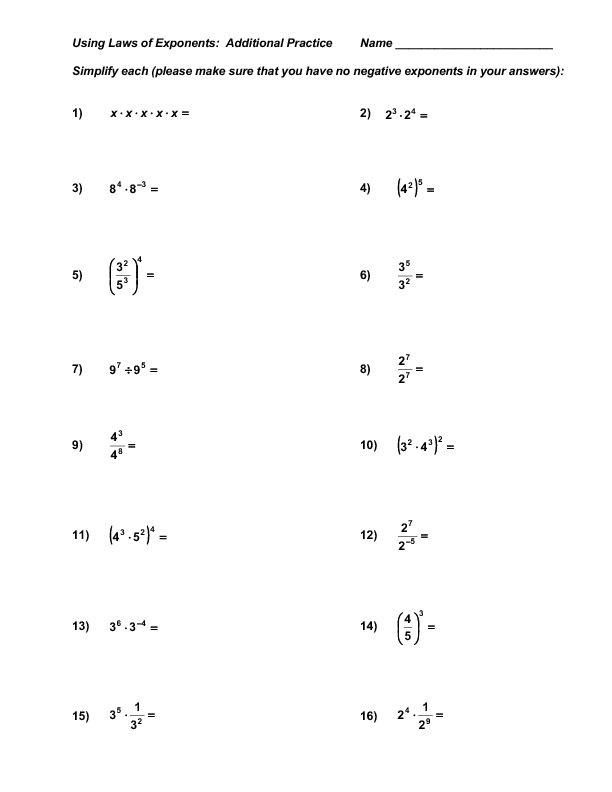 Multiplying and Dividing Monomials Worksheet Dividing Exponents Worksheets Free Power Of 10 Exponent