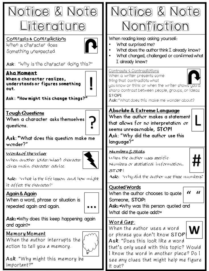 Notice and Note Signposts Worksheet Image Result for Notice and Note Nonfiction Signposts