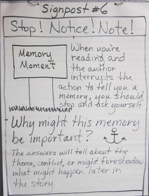 "Notice and Note Signposts Worksheet Teaching the Signposts From ""notice & Note Strategies for"