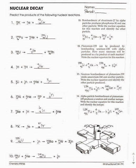 Nuclear Decay Worksheet Answers Chemistry Pin On Customize Design Worksheet Line