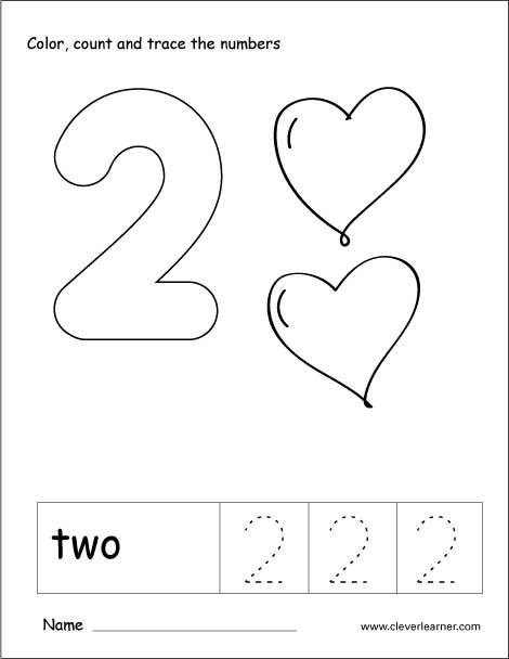 Number 2 Worksheets for Preschool Number Two Writing Counting and Recognition Activities for