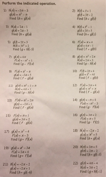 Operations On Functions Worksheet solved Please Help Me Fill Out My Worksheet Over Function