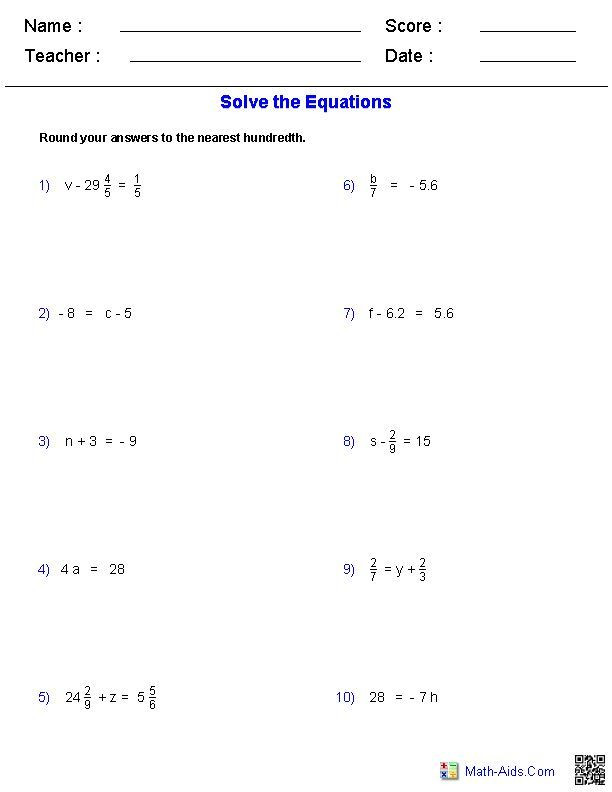 Operations with Exponents Worksheet 21 5th Grade Algebra Worksheets ในปี 2020