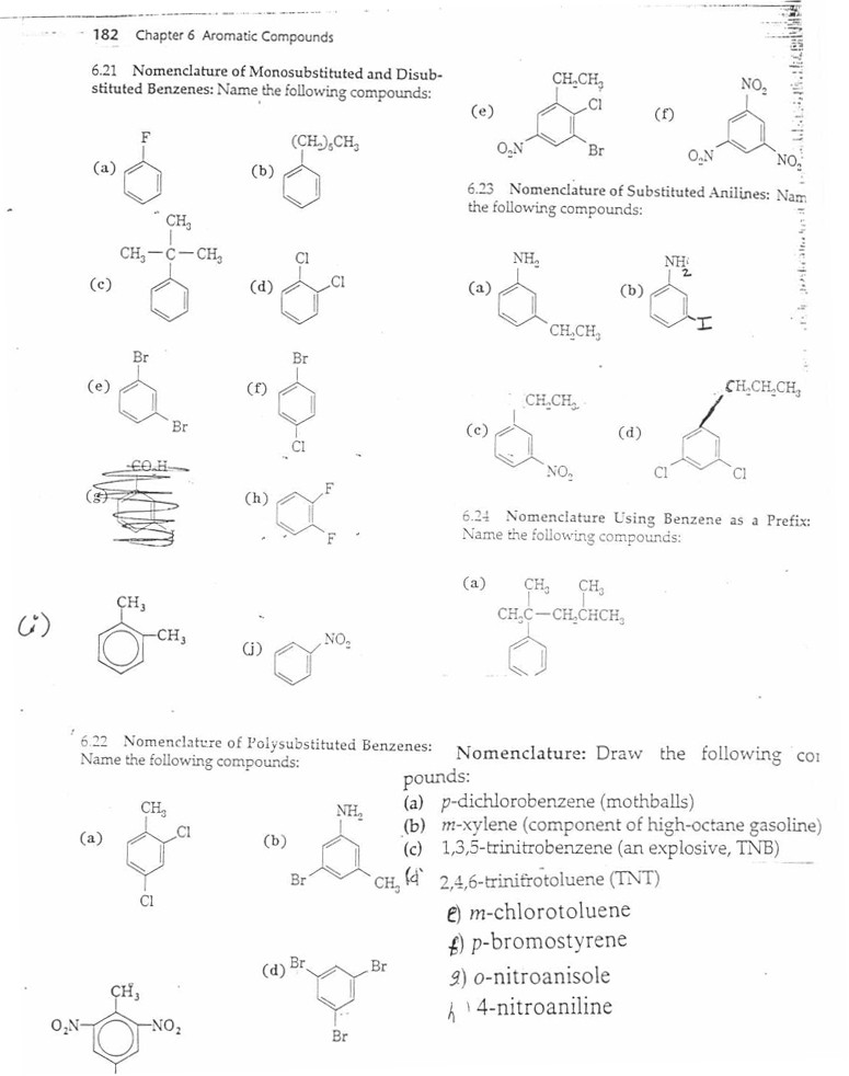 Organic Compounds Worksheet Answers organic Chemistry