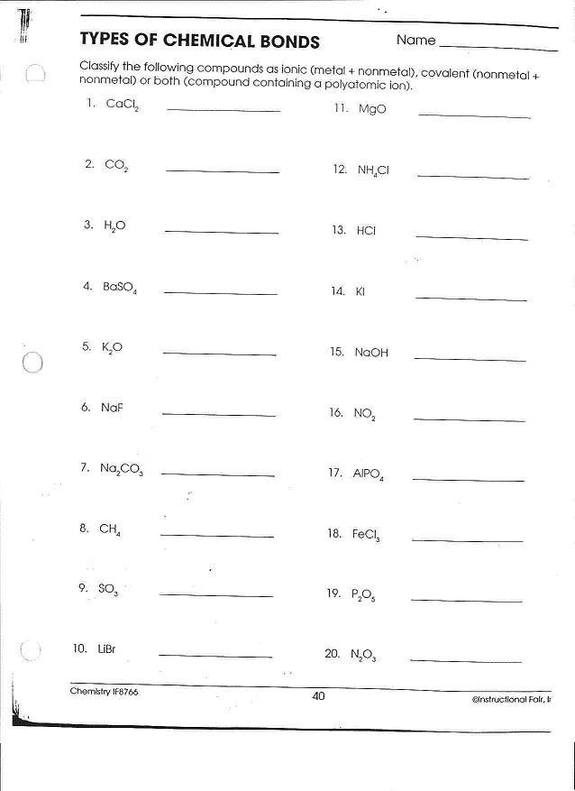 Overview Chemical Bonds Worksheet Answers 34 Chemical Bonds Worksheet Answers Worksheet Resource Plans