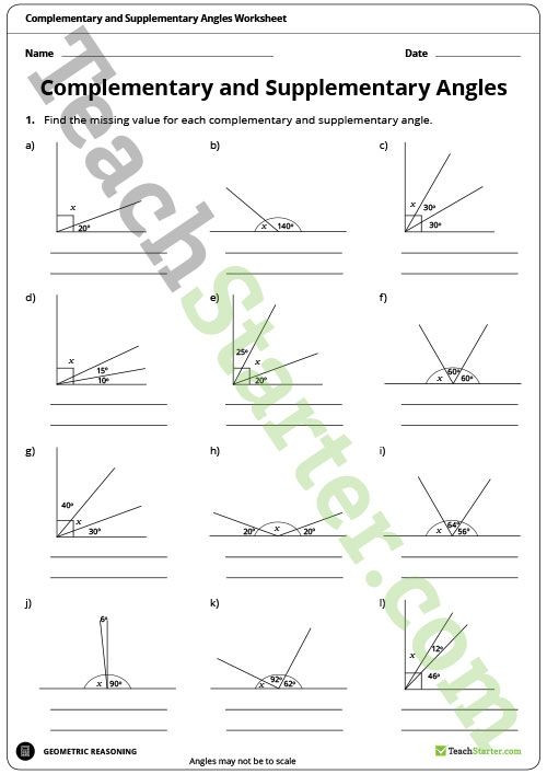 Pairs Of Angles Worksheet Answers Teaching Resource A Worksheet to Use when Learning About