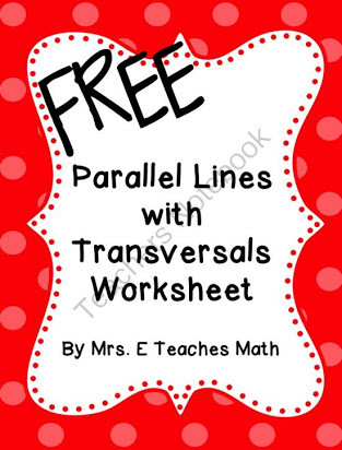 Parallel Lines Transversal Worksheet Free Transversal Worksheets