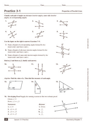 Parallel Lines Transversal Worksheet Homework 2 Angles and Parallel Lines