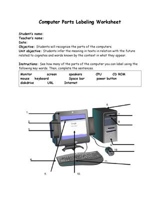 Parts Of A Computer Worksheet Handout Karlasoto by Karla Pilar soto Barrera issuu