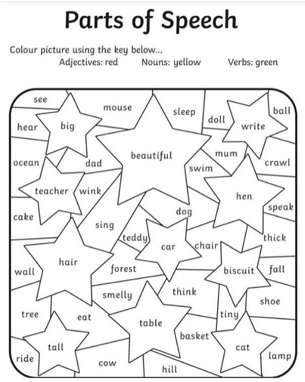 Parts Of Speech Worksheet Pdf Pin by Amar Crow On 3rd Grade