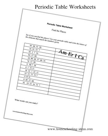 Periodic Table Worksheet Answers Periodic Table Worksheets