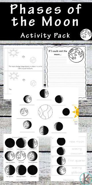 Phases Of the Moon Worksheet Free Moon Phases Worksheets