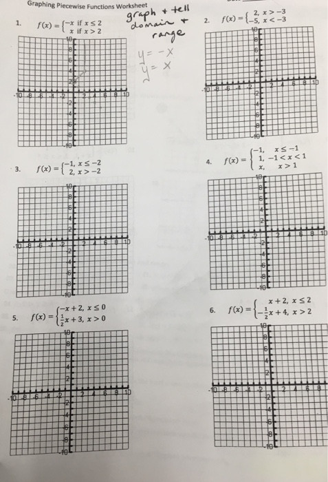 Piecewise Functions Worksheet Answer Key solved Graphing Piecewise Functions Worksheet F X = X I
