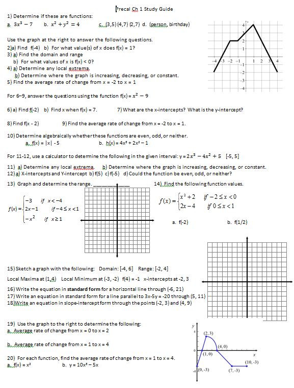 Piecewise Functions Worksheet with Answers Precal – Page 3 – Insert Clever Math Pun Here