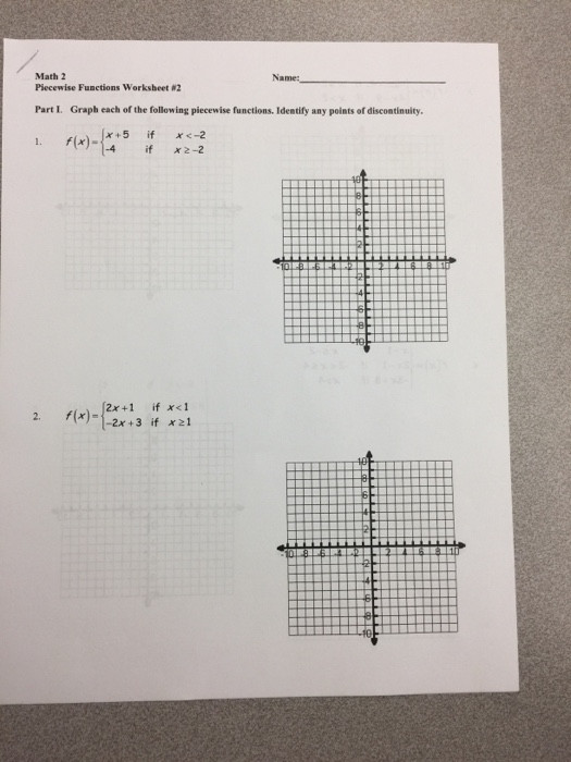 Piecewise Functions Worksheet with Answers solved Graph Each the Following Piecewise Function Id