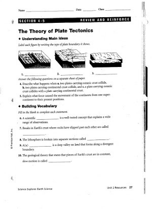 Plate Tectonics Worksheet Answer Key Graham Cracker Plate Tectonics Lab Answers