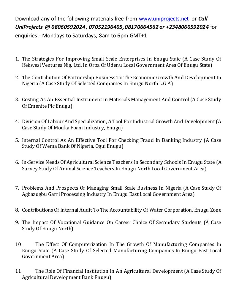 Point Of View Worksheet 11 Accounting Education Project topics and Materials In Nigeria