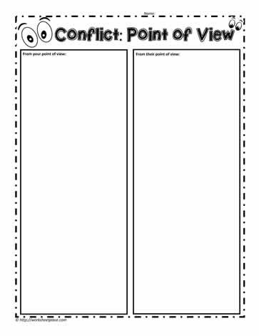 Point Of View Worksheet Point Of View Worksheets