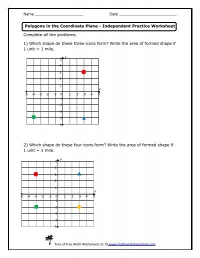 Point Slope form Practice Worksheet Polygons In the Coordinate Plane Independent Practice