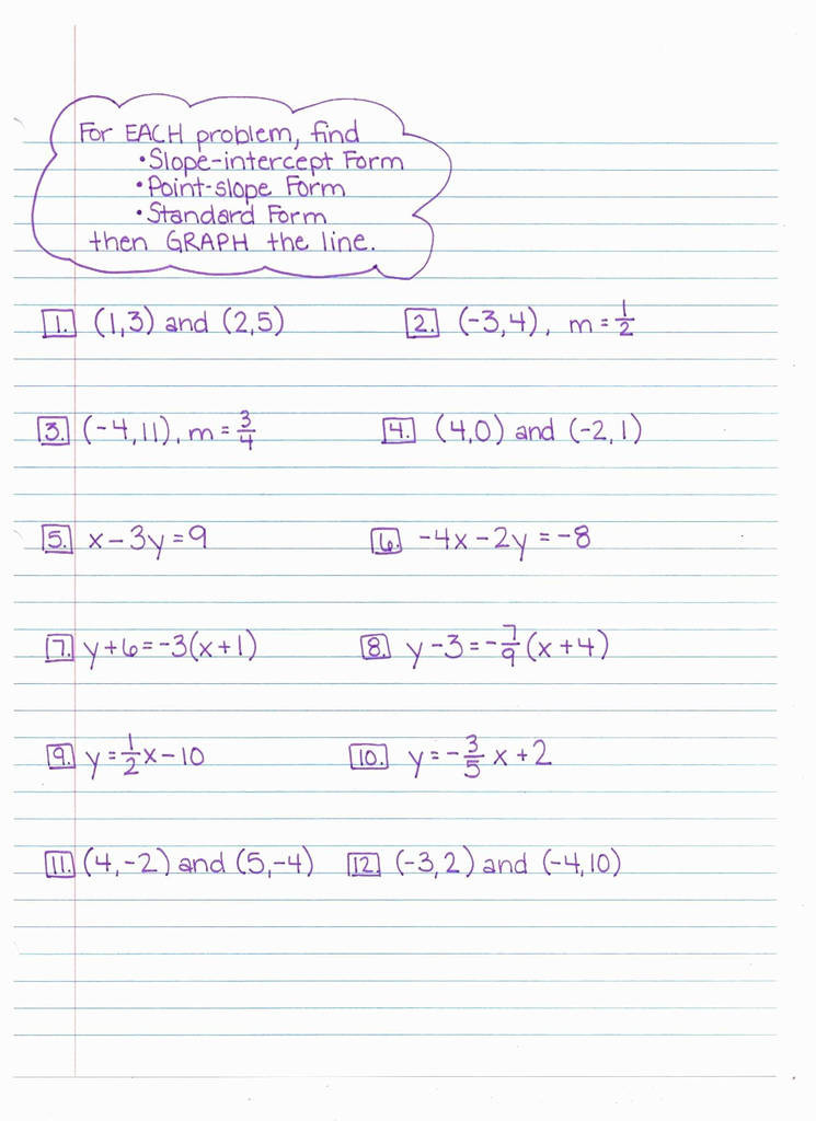 Point Slope form Worksheet Point Slope form Equation with Two Points Lovely Writing