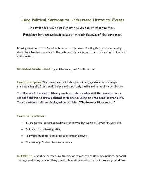 Political Cartoon Analysis Worksheet Using Political Cartoons to Understand Historical events