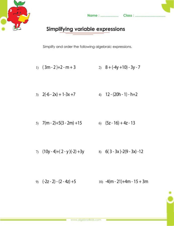 Polynomial Word Problems Worksheet Adding and Subtracting Polynomials Worksheets with Answers
