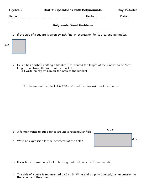 polynomial word problems worksheet on23m8pw8jl0