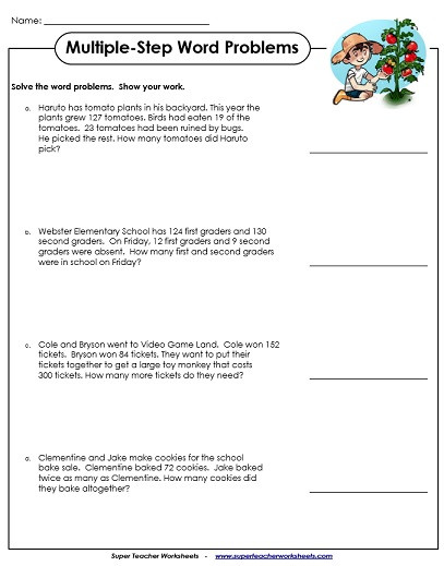 Polynomial Word Problems Worksheet Story Problem Worksheets 2nd Grade Worksheets Section